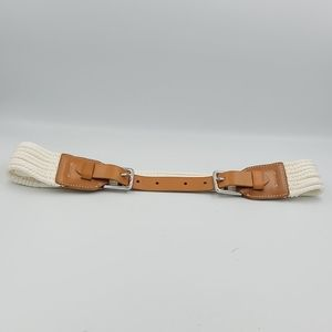 - J. Crew woven belt size Medium
